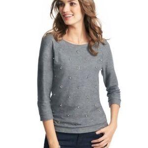 NWT Loft Jewel Embellished Sweatshirt